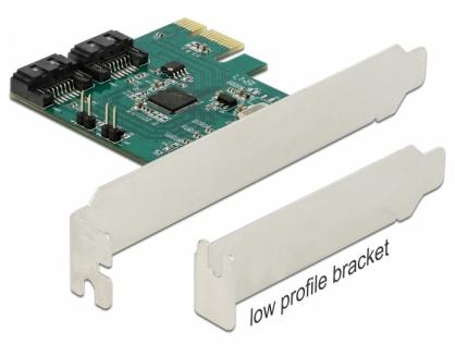 PCI Express cu 2 porturi SATA III cu RAID, Delock 90393
