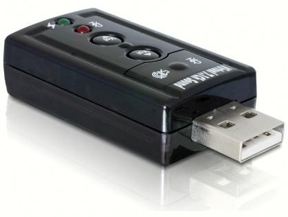 Placa de sunet USB, 7.1, Delock 61645