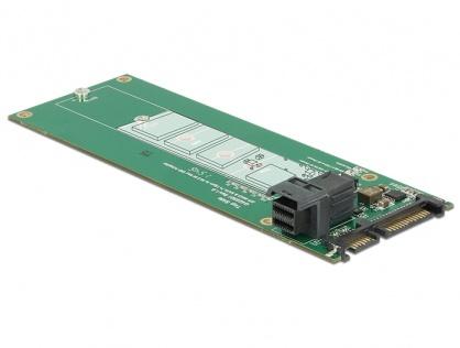 Convertor SATA 22 pini / SFF-8643 NVMe la 1 x M.2 NGFF Key M, Delock 62703