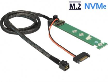Convertor SFF-8643 la 1 x M.2 NVMe Key M + cablu 1m, Delock 63342