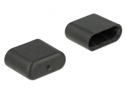 Protectie impotriva prafului pentru conector USB-C set 10 buc, Delock 64008
