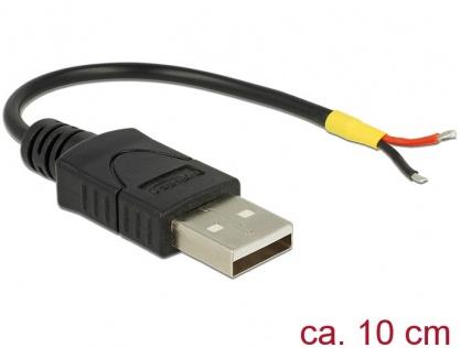 Cablu USB 2.0-A la 2 x fire deschise Raspberry Pi 10cm, Delock 85250