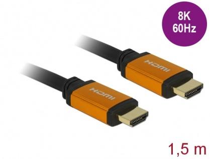 Cablu Ultra High Speed HDMI 8K60Hz/4K240Hz T-T 1.5m Negru, Delock 85728