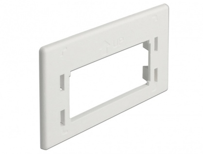 Placa de adaptare keystone pentru priza de instalare in mobilier Alb, Delock 86290