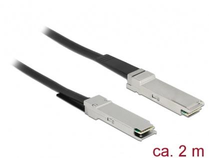 Cablu Twinax QSFP28 T-T 2m Negru, Delock 86430