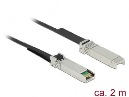Cablu Twinax SFP28 T-T 2m negru, Delock 86431