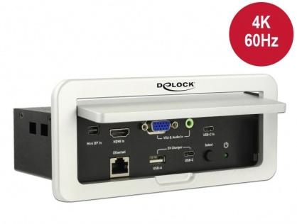 Convertor Multi audio-video (Mini Displayport, HDMI, VGA, Gigabit) la HDMI 4K 60Hz montare in masa, Delock 87733