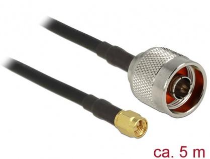 Cablu antena  N plug la SMA plug CFD200/RF200 5m low loss, Delock 89418