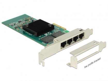 PCI Express la 4 x Gigabit LAN chipset Intel i350, Delock 89946