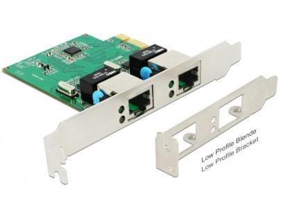 PCI Express cu 2 x Gigabit LAN, Delock 89999