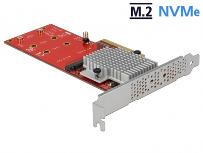 PCI Express cu 2 porturi interne NVMe M.2 Key M LPFF, Delock 90305