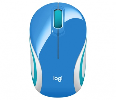 Mouse wireless M187 Alb/Bleu, Logitech