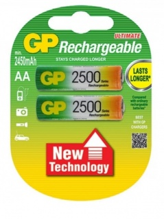 Set 4 acumulatori AA 2500mAh, GP Ultimate GP250AAHC-BL4