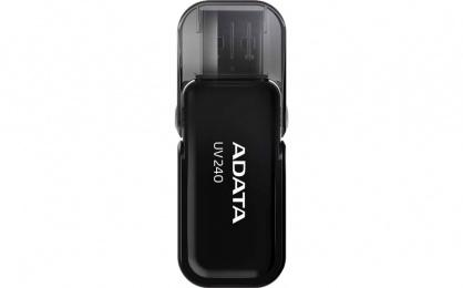 Stick USB 2.0 cu capac pliabil 64GB UV240 Negru, ADATA