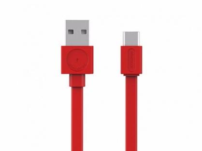 Cablu de date si incarcare USB 2.0-A la tip C 1.5m Rosu, Allocacoc