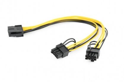 Cablu de alimentare PCI Express 8 pini la 2 x PCIe 6+2 pini 0.3m, Gembird CC-PSU-85