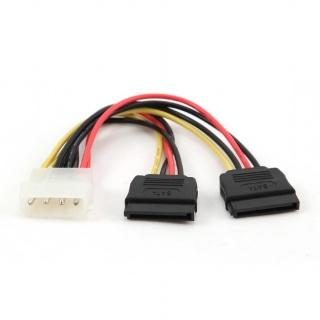 Cablu alimentare Molex la 2 x SATA, Gembird CC-SATA-PSY