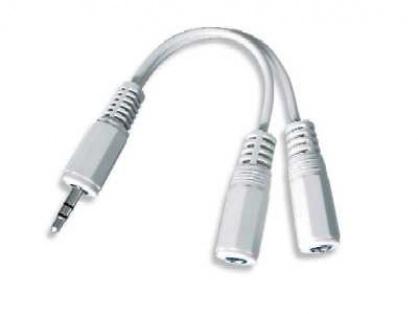 Cablu audio spliter jack 3.5mm la 2 x jack 3.5mm T-M, Gembird CCA-415W