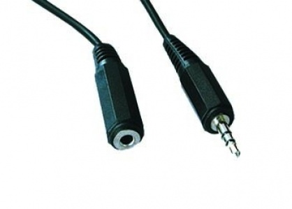 Cablu prelungitor audio jack stereo 3.5mm T-M 3m, Gembird CCA-423-3M