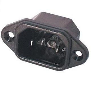 Conector de alimentare pentru lipit 230V/tata IEC C14