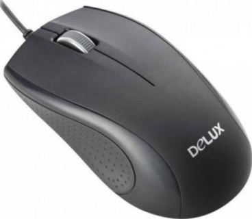 Mouse optic USB Negru, Delux DLM-136BU