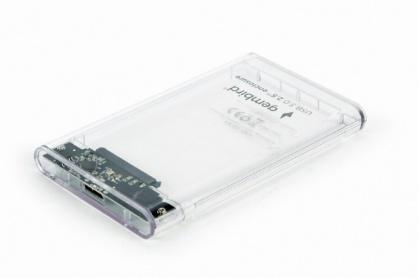 """Rack extern 2.5"""" USB 3.0 la SATA 9.5mm HDD Transparent, Gembird EE2-U3S9-6"""