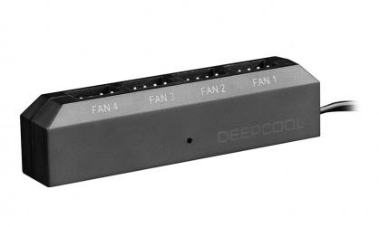 Adaptor (HUB) 4 pini la 4 x ventilator 3/4 pini PWM, Deepcool FH-04