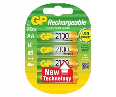 Acumulatori AA (R6) 2100mAh 4 buc, GP Batteries