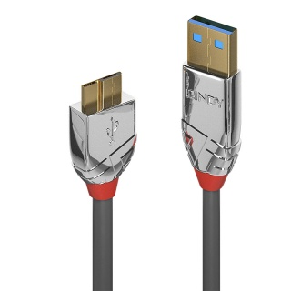 Cablu micro USB-B 3.0 la USB-A 0.5m CROMO Line, Lindy L36656