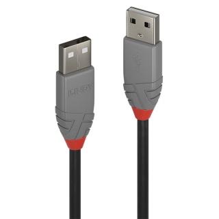 Cablu USB 2.0-A T-T 1m Anthra Line Gri, Lindy L36692