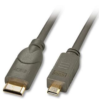 Cablu mini HDMI-C la micro HDMI-D 1.5m T-T, Lindy L41342