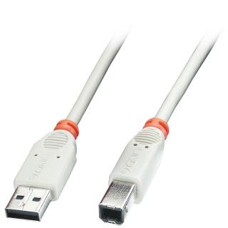 Cablu USB-A la USB-B de imprimanta Gri 2m, Lindy L41738