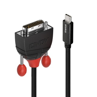 Cablu USB-C la DVI T-T 0.5m Negru, Lindy L43255