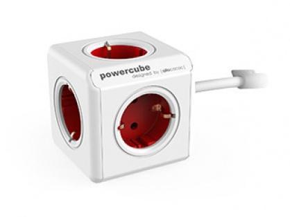 Prelungitor in forma de cub PowerCube Extended 5 prize 3m Rosu, Allocacoc
