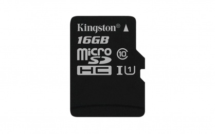 Card de memorie micro SDHC Canvas Select 16GB clasa 10, Kingston SDCS/16GBSP