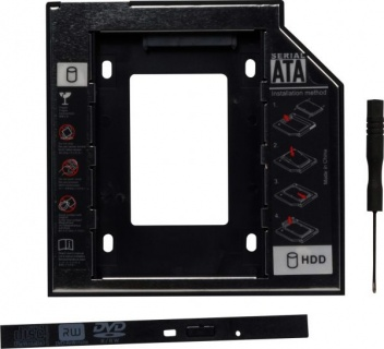 "Installation frame (caddy) Slim SATA 5.25"" pentru HDD SATA 9.5mm 2.5"", Spacer SPR-25DVDI"