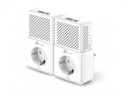 Kit Adaptor Powerline AV1000, priza AC, Gigabit, TP-Link TL-PA7020PKIT