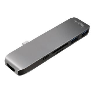 Docking station USB-C la HDMI 4K + slot micro SD+SD + 2 x USB 3.0, Logilink UA0301