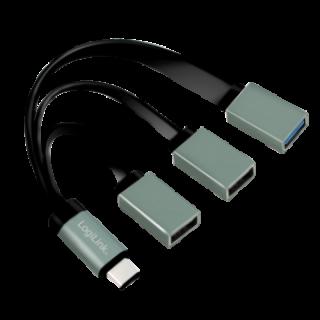 HUB USB tip C cu 3 porturi (1 x USB 3.0 si 2 x USB 2.0), Logilink UA0315