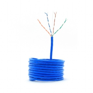 Rola cablu de retea UTP cat 5e fir solid 305m bleu, Gembird UPC-5004E-SO-BLUE
