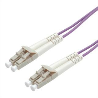Cablu fibra optica LC - LC OM4 conector Low Loss 0.5m violet, Roline 21.15.8850