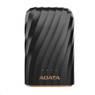 POWER BANK ADATA 10050mAh 2 x USB + input USB-C 2.4A Negru, A-DATA