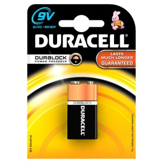 Baterie 9V Basic,  Duracell