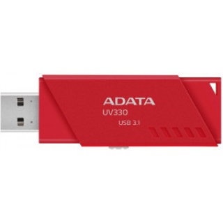 Stick USB 3.1 UV330 64GB Rosu, A-DATA AUV330-64G-RRD