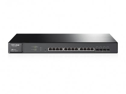 Smart Switch JetStream 12 porturi 10GBase-T cu 4 sloturi 10G SFP+, TP-LINK T1700X-16TS