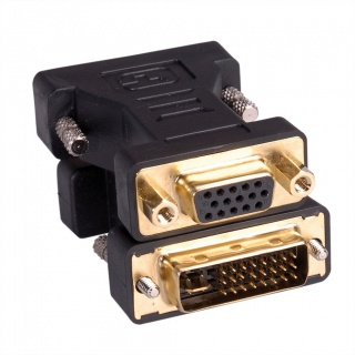 Adaptor DVI-I Dual Link 24+5pini la VGA 15pini T-M, Roline 12.03.3105