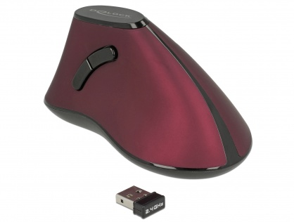 Mouse wireless ergonomic vertical optic, Delock 12528