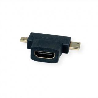 Adaptor HDMI-A la micro HDMI-D + mini HDMI-C M-T, Value 12.99.3166