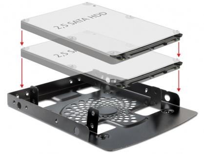 "Kit montare 3.5"" pentru 2 x 2.5"" HDD, Delock 18198"