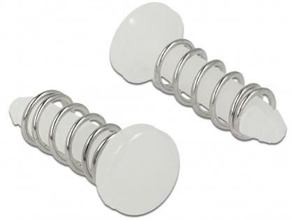 Snap Rivet (suruburi) pentru radiator PCB albe set 10 buc, Delock 18272